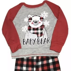 Family Holiday Fleece Pajamas Set